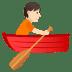 🚣🏻 person rowing boat: light skin tone Emoji on Joypixels Platform