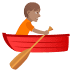 🚣🏽 person rowing boat: medium skin tone Emoji on Joypixels Platform