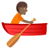 🚣🏾 person rowing boat: medium-dark skin tone Emoji on Joypixels Platform