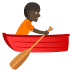 🚣🏿 person rowing boat: dark skin tone Emoji on Joypixels Platform