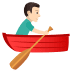 🚣🏻‍♂️ man rowing boat: light skin tone Emoji on Joypixels Platform