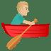 🚣🏼♂️ man rowing boat: medium-light skin tone Emoji on Joypixels Platform
