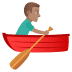 🚣🏽♂️ man rowing boat: medium skin tone Emoji on Joypixels Platform