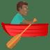 🚣🏾♂️ man rowing boat: medium-dark skin tone Emoji on Joypixels Platform