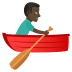 🚣🏿‍♂️ man rowing boat: dark skin tone Emoji on Joypixels Platform