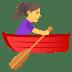 🚣♀️ Woman Rowing Boat Emoji on JoyPixels Platform