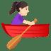 🚣🏻♀️ woman rowing boat: light skin tone Emoji on Joypixels Platform