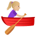 🚣🏼‍♀️ woman rowing boat: medium-light skin tone Emoji on Joypixels Platform