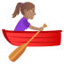 🚣🏽‍♀️ woman rowing boat: medium skin tone Emoji on Joypixels Platform