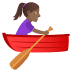 🚣🏾‍♀️ Medium Dark Skin Tone Woman Rowing Boat Emoji on JoyPixels Platform