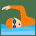 🏊🏻 person swimming: light skin tone Emoji on Joypixels Platform