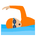 🏊🏼 person swimming: medium-light skin tone Emoji on Joypixels Platform