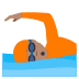 🏊🏽 person swimming: medium skin tone Emoji on Joypixels Platform