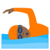 🏊🏾 person swimming: medium-dark skin tone Emoji on Joypixels Platform