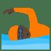 🏊🏿 person swimming: dark skin tone Emoji on Joypixels Platform