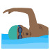 🏊🏾‍♂️ man swimming: medium-dark skin tone Emoji on Joypixels Platform