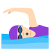 🏊🏻‍♀️ woman swimming: light skin tone Emoji on Joypixels Platform