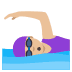 🏊🏼♀️ woman swimming: medium-light skin tone Emoji on Joypixels Platform