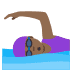 🏊🏾‍♀️ woman swimming: medium-dark skin tone Emoji on Joypixels Platform