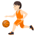 ⛹🏻 Light Skin Tone Person Bouncing Ball Emoji on JoyPixels Platform