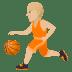 ⛹🏼 person bouncing ball: medium-light skin tone Emoji on Joypixels Platform