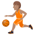 ⛹🏽 person bouncing ball: medium skin tone Emoji on Joypixels Platform