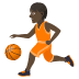 ⛹🏿 person bouncing ball: dark skin tone Emoji on Joypixels Platform