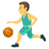 ⛹️‍♂️ man bouncing ball Emoji on Joypixels Platform