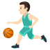 ⛹🏻♂️ man bouncing ball: light skin tone Emoji on Joypixels Platform