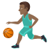 ⛹🏾‍♂️ man bouncing ball: medium-dark skin tone Emoji on Joypixels Platform