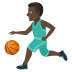 ⛹🏿♂️ man bouncing ball: dark skin tone Emoji on Joypixels Platform