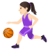 ⛹🏻‍♀️ Light Skin Tone Woman Bouncing Ball Emoji on JoyPixels Platform