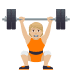 🏋🏼 person lifting weights: medium-light skin tone Emoji on Joypixels Platform