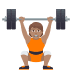 🏋🏽 person lifting weights: medium skin tone Emoji on Joypixels Platform
