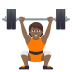 🏋🏾 person lifting weights: medium-dark skin tone Emoji on Joypixels Platform
