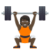 🏋🏿 person lifting weights: dark skin tone Emoji on Joypixels Platform