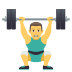 🏋️‍♂️ man lifting weights Emoji on Joypixels Platform