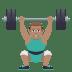 🏋🏽♂️ man lifting weights: medium skin tone Emoji on Joypixels Platform