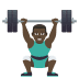 🏋🏿♂️ man lifting weights: dark skin tone Emoji on Joypixels Platform