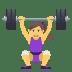 🏋️♀️ woman lifting weights Emoji on Joypixels Platform