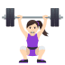 🏋🏻‍♀️ woman lifting weights: light skin tone Emoji on Joypixels Platform