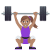 🏋🏽‍♀️ woman lifting weights: medium skin tone Emoji on Joypixels Platform