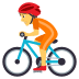 🚴 person biking Emoji on Joypixels Platform