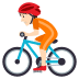 🚴🏻 person biking: light skin tone Emoji on Joypixels Platform