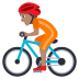 🚴🏽 person biking: medium skin tone Emoji on Joypixels Platform