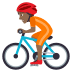 🚴🏾 person biking: medium-dark skin tone Emoji on Joypixels Platform