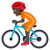 🚴🏿 person biking: dark skin tone Emoji on Joypixels Platform