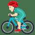 🚴🏻♂️ man biking: light skin tone Emoji on Joypixels Platform