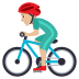 🚴🏼‍♂️ Medium Light Skin Tone Man Biking Emoji on JoyPixels Platform