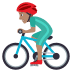 🚴🏽‍♂️ man biking: medium skin tone Emoji on Joypixels Platform